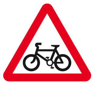 sign_cycle route ahead