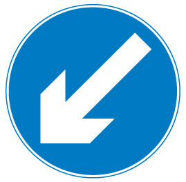 sign_keep left