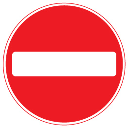 sign_no entry for vehicles