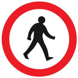 sign_no pedestrains