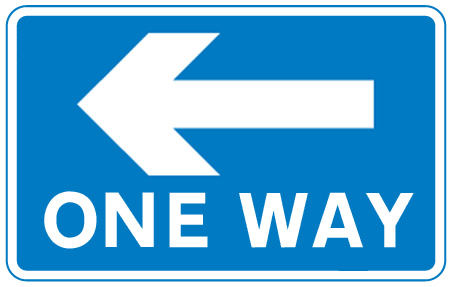 sign_one way