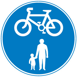 sign_cycles shared with pedestrians